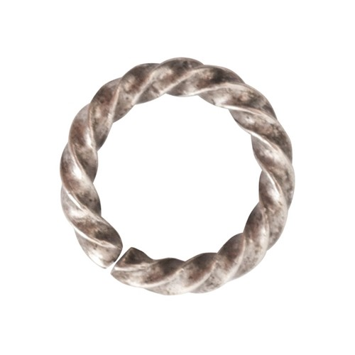 Nunn Design 11mm Rope Jump Ring - Antique Silver