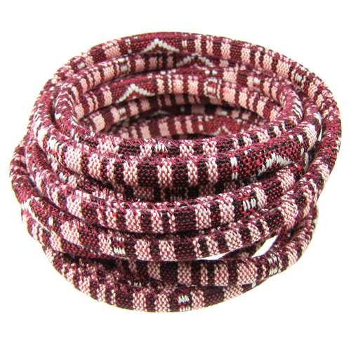 Cotton 6mm ROUND Cord - Bordeaux - per inch