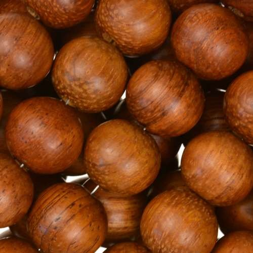 Bayong Wood Bead Round 12mm
