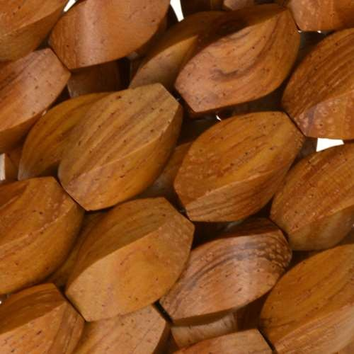 Bayong Wood Bead Twist 8x15mm - strand