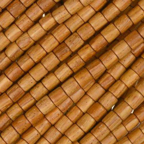 Bayong Wood Bead Tube 4x4mm - strand