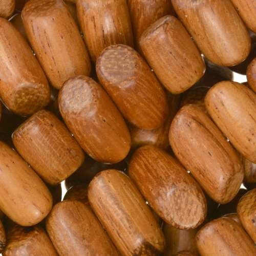Bayong Wood Bead Tube Side Cut 8x15mm - strand