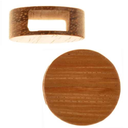 Bayong Wood Slide Large Hole Round Flat 20mm