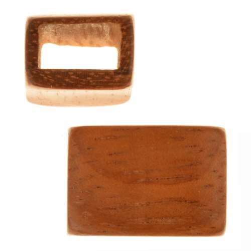 Bayong Wood Slide Large Hole Rectangle 20x12mm - piece