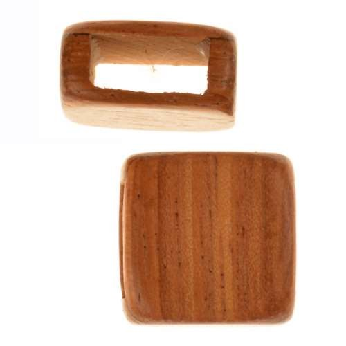 Bayong Wood Slide Large Hole Square Plain 15mm