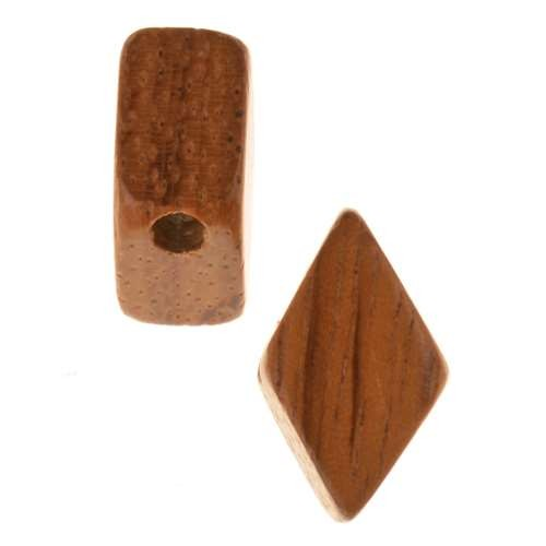 Bayong Wood Slide Large Hole Diamond 10x18mm - piece