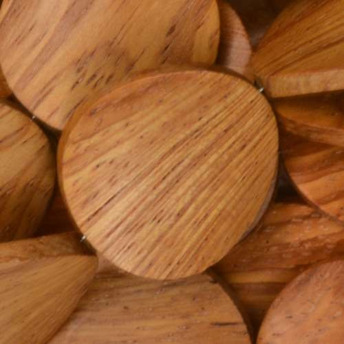 Bayong Wood Bead Coin Twisted 25mm - strand