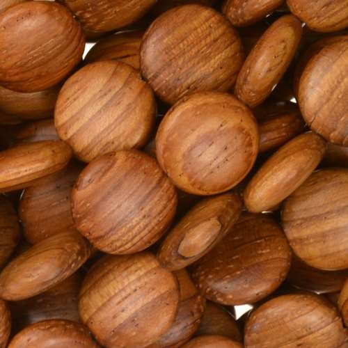 Bayong Wood Bead Coin 12x5mm