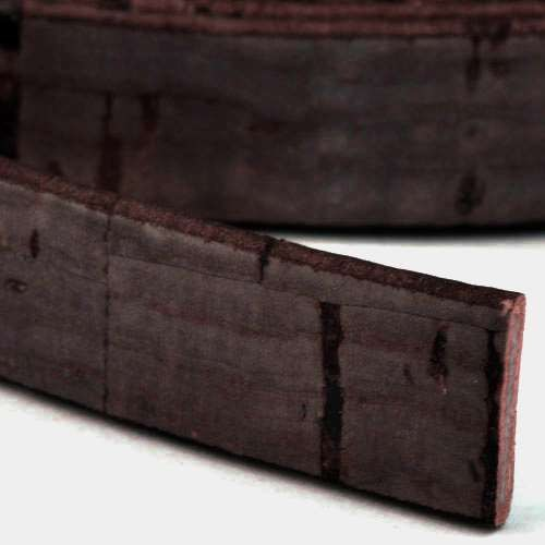 Portuguese 10mm FLAT Cork Cord - Dark Brown