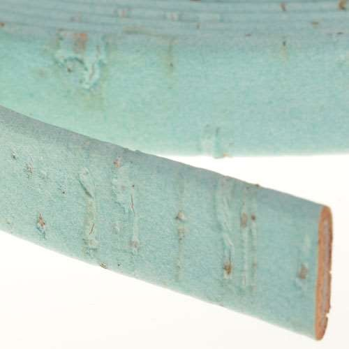 Portuguese 10mm FLAT Cork Cord - Pale Turquoise