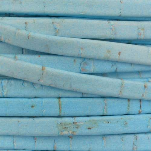 Portuguese 5mm FLAT Cork Cord - Baby Blue