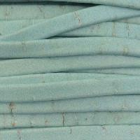 Portuguese 5mm FLAT Cork Cord - Pale Turquoise - per inch
