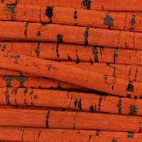 Portuguese 5mm FLAT Cork Cord - Orange