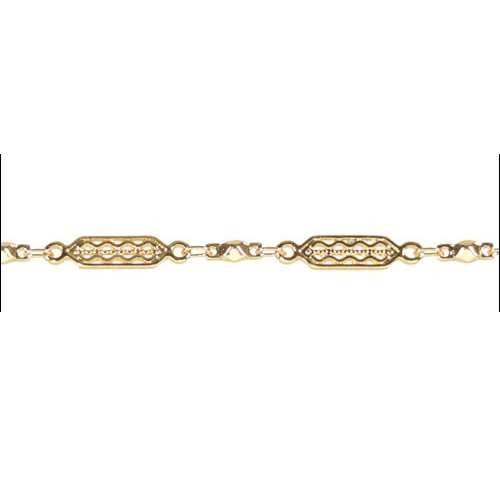 Tribal Filigree Chain - Gold - per foot