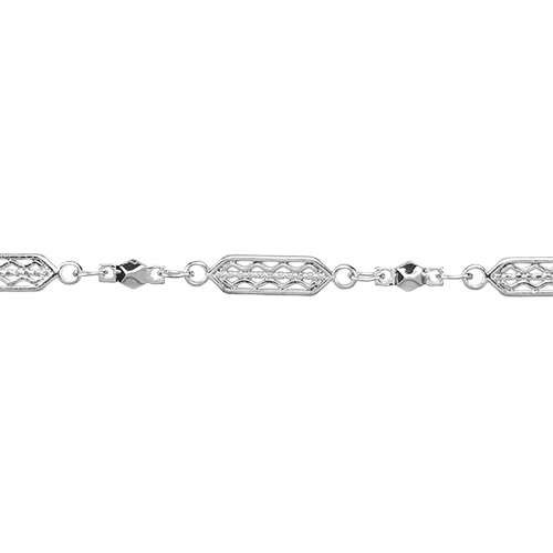 Tribal Filigree Chain - Rhodium
