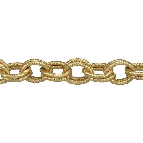 Double Etched Heavy Cable Chain - Matte Gold