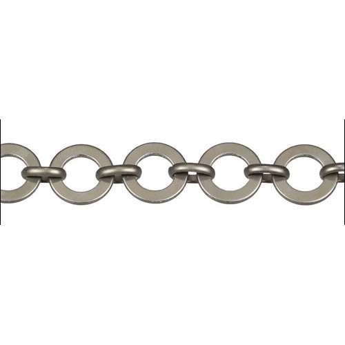 Washer Circle Chain - Matte Gunmetal
