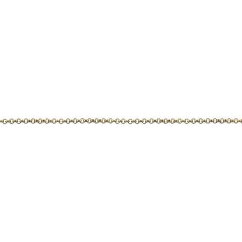 Rolo Chain 1.0mm - Antique Brass - per foot