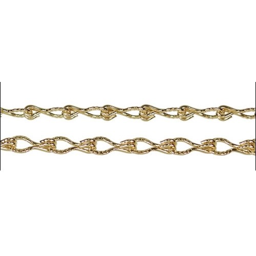 Etched Gear Link chain GOLD per foot