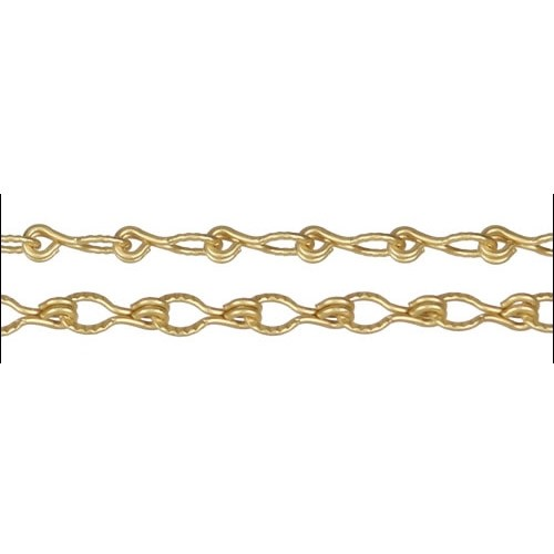 Etched Gear Link chain MATTE GOLD per foot