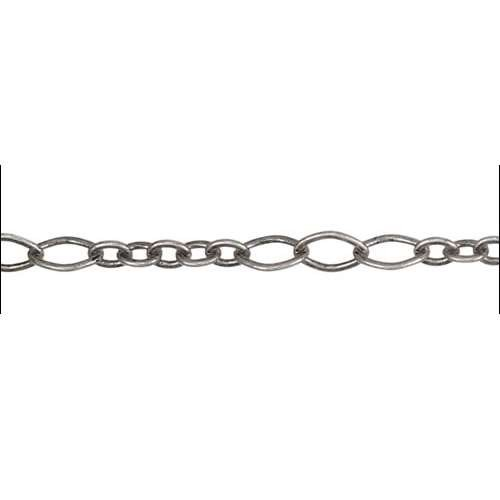 5:3 Oval Chain - Antique Silver - per foot