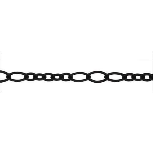 5:3 Oval Chain - Nite Black - per foot