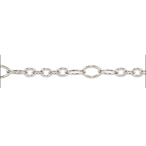 5:3 Oval Chain - Silver Plate