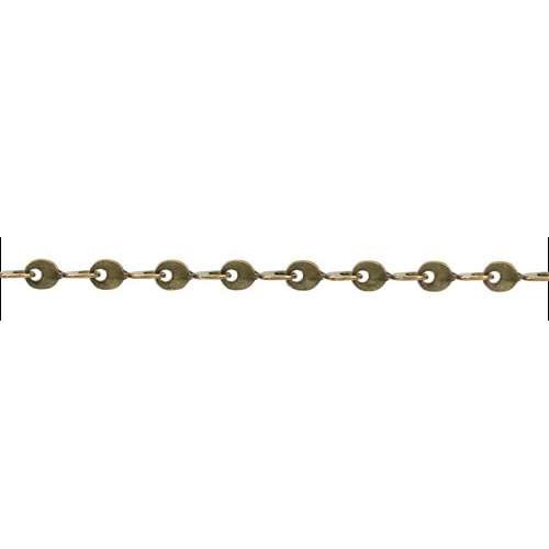 Teardrop Twists Chain - Antique Brass