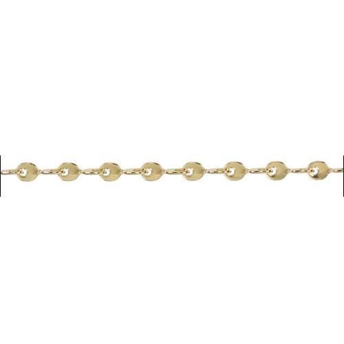 Teardrop Twists Chain - Gold - per foot