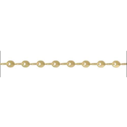Teardrop Twists Chain - Matte Gold