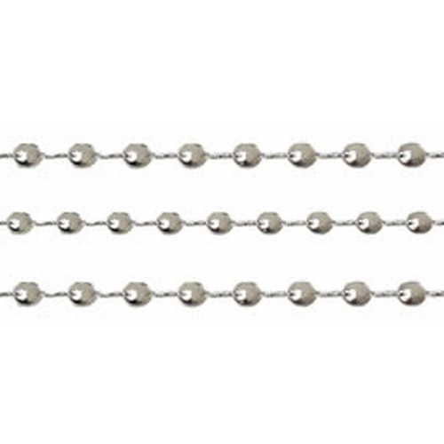 Chain Teardrop Twists 3mm - Silver Plated