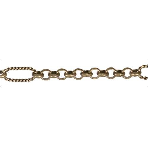 13:1 Rolo Interrupted Chain - Antique Brass