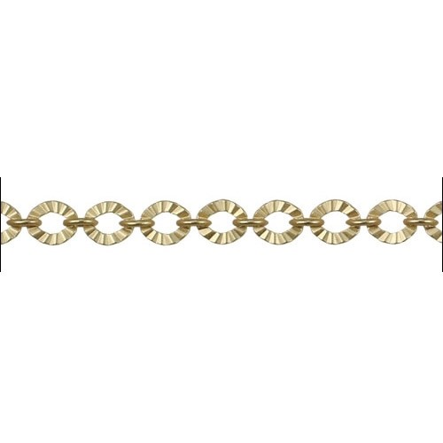 Crinkle Link chain GOLD - per foot