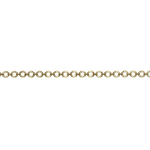 Crinkle Link chain MATTE GOLD - per foot