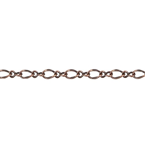 1:1 Figaro chain ANTIQUE COPPER