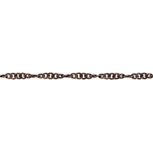 Spiral Curb chain ANTIQUE COPPER