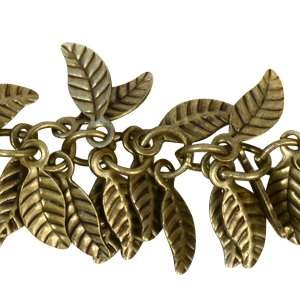 Leaf Chain with 4x6mm Leaves (1/2 ft) - Antique Brass
