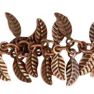 Leaf Chain with 4x6mm Leaves (1/2 ft) - Antique Copper