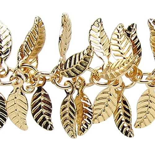 Leaf Chain with 4x6mm Leaves (1/2 ft) - Matte Gold
