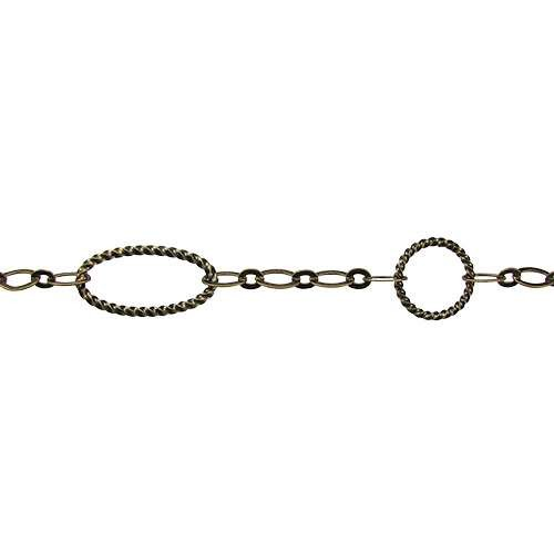 Oval/Circle Chain - Antique Brass