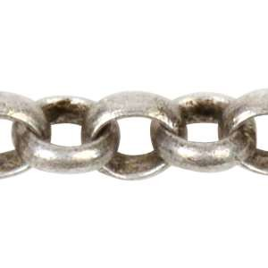 Rolo 2.0mm Chain - Antique Silver - per foot