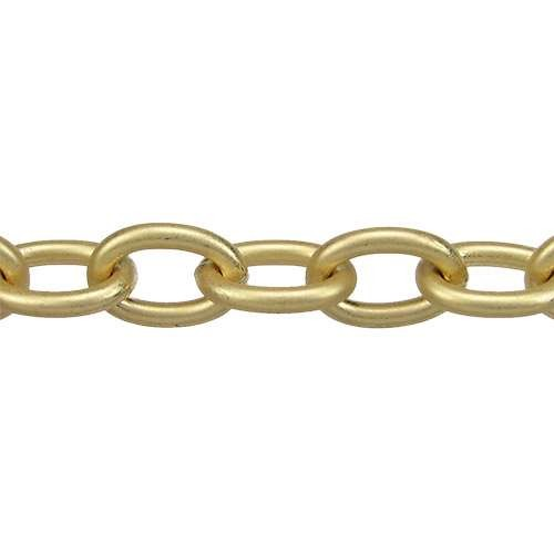 Medium Cable Chain - Matte Gold
