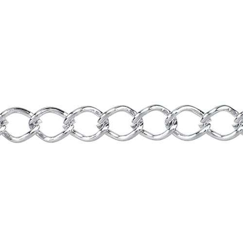 Small Curb Chain - Silver Plate
