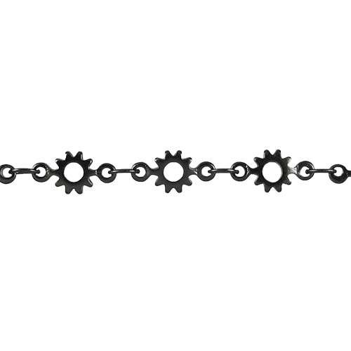 Cog Chain - Matte Gunmetal - per foot