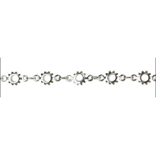 Cog Chain - Rhodium