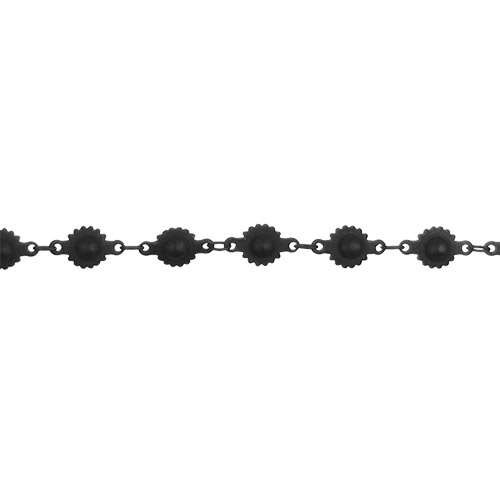 Ball and Cog Chain - Nite Black - per foot