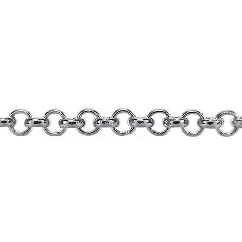 Rolo 4.8 Chain - Rhodium
