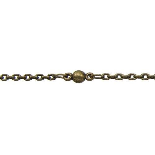 Fine Ball & Chain - Antique Brass