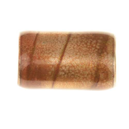 C-Koop Copper Enamel Slider Oval Large-Hole 25mm - Brown Velvet