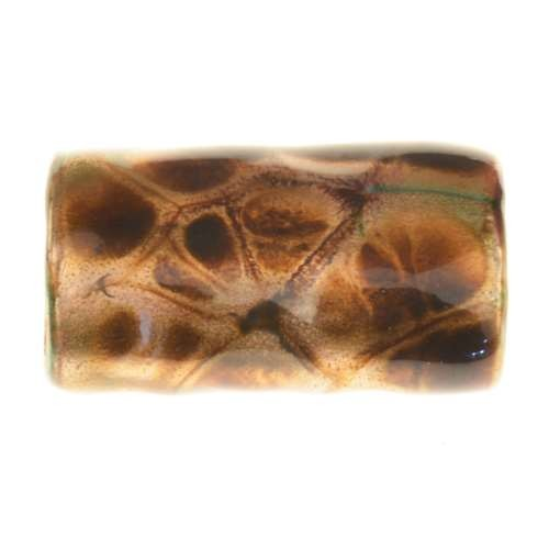 C-Koop Copper Enamel Slider Oval Large Hole 25mm - Turtle Shell